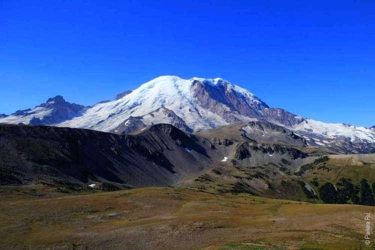 маунт рейнир ледник в горах