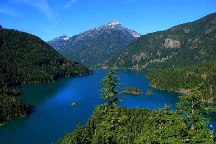 озеро диабло в горах
