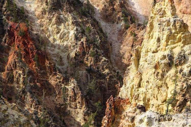 Гранд Каньон в национальном парке Йеллоустоун в США 02