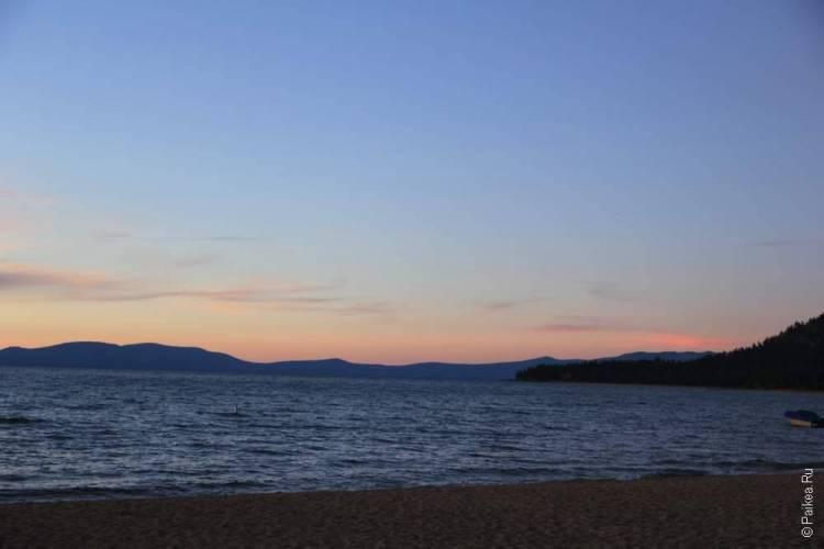 озеро тахо закат