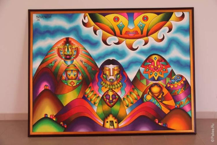 Так боливийский художник видит Ла-Пас