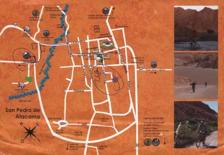 Карта Сан-Педро-де-Атакама