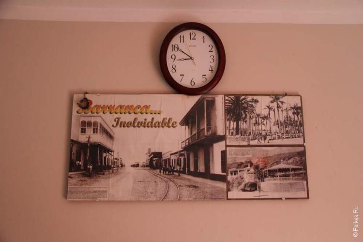 Винтажная фотография Барранки на стене отеля