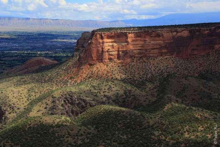 Живописная дорога Rim Rock Drive, Национальный памятник Колорадо, США 21