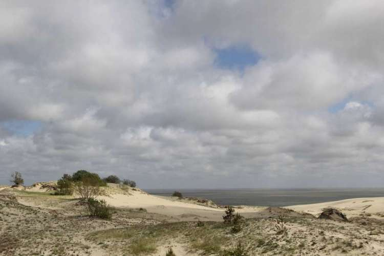 Куршская коса - песчаные дюны и море