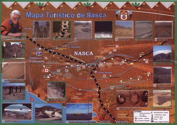 Карта достопримечательностей Наски