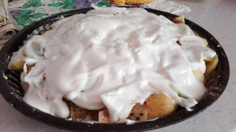рецепт картофеля с сыром