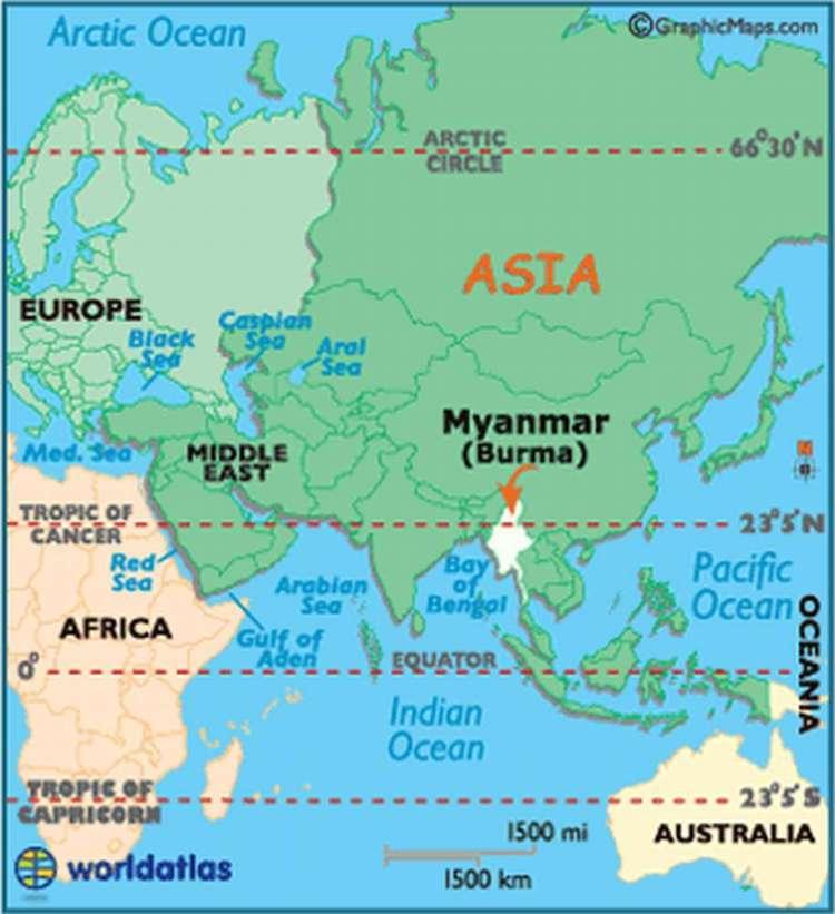 Где находится Мьянма