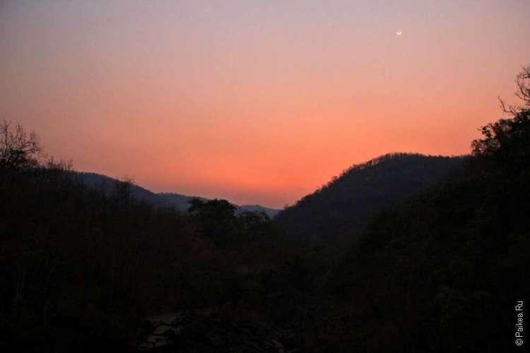 Закат в Северном Таиланде