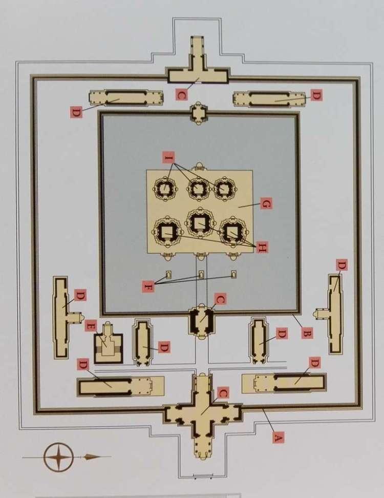 Схема храма Преа Ко