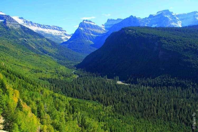 скалистые горы в штате Монтана