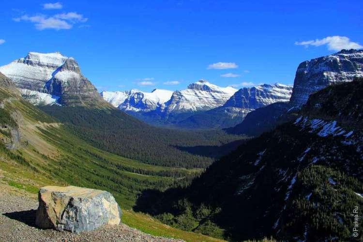 Горы с ледниковыми шапками