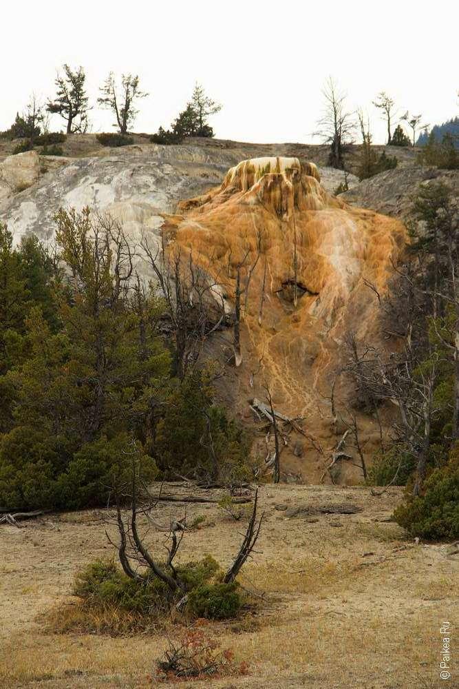 Геотермальные источники Мамонт Йеллоустоун США 06