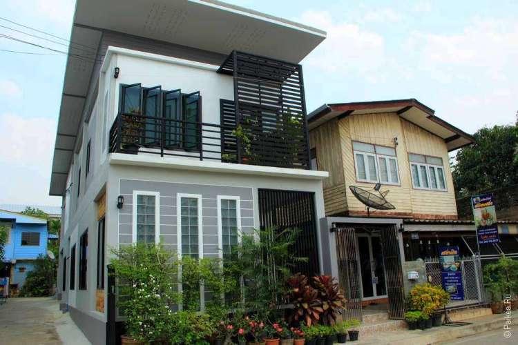 Cовременные дома в городе Пхаяу
