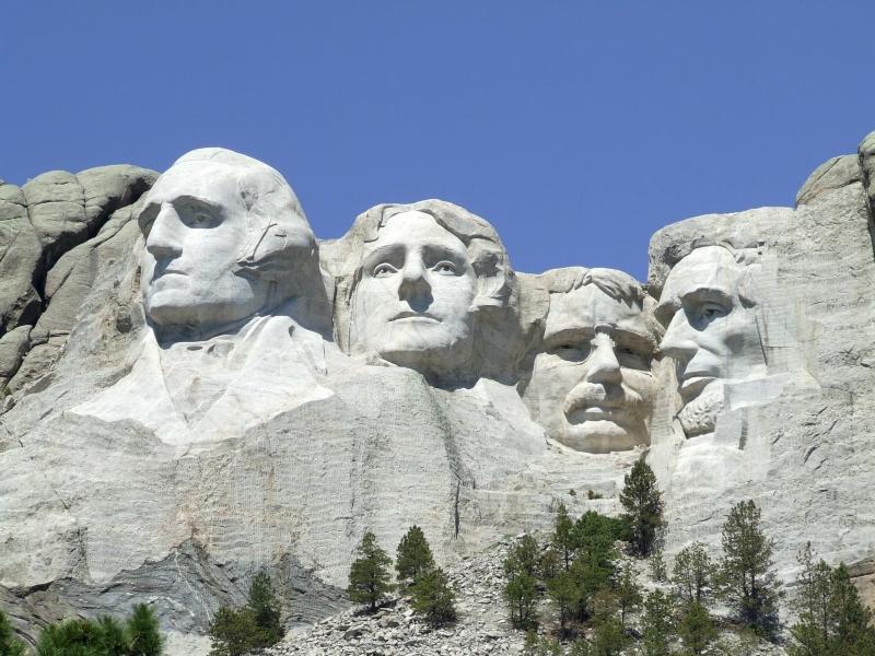 президенты в скале