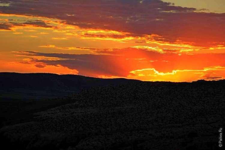 Фото заката в национальном парке