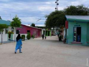 Остров-деревня на Мальдивах