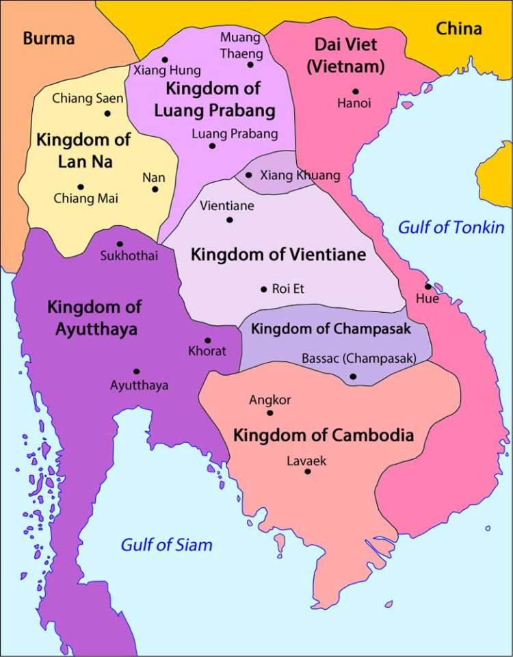 Карта Юго-Восточной Азии 18 века