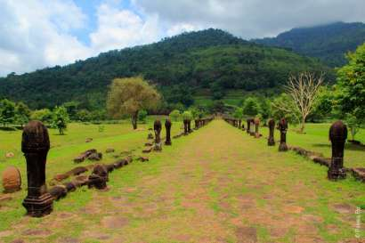 Дорога к храму Ват Пху Лаос Vat Phou Laos