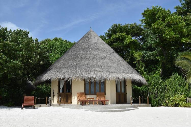 Пляжи Мальдив бунгало