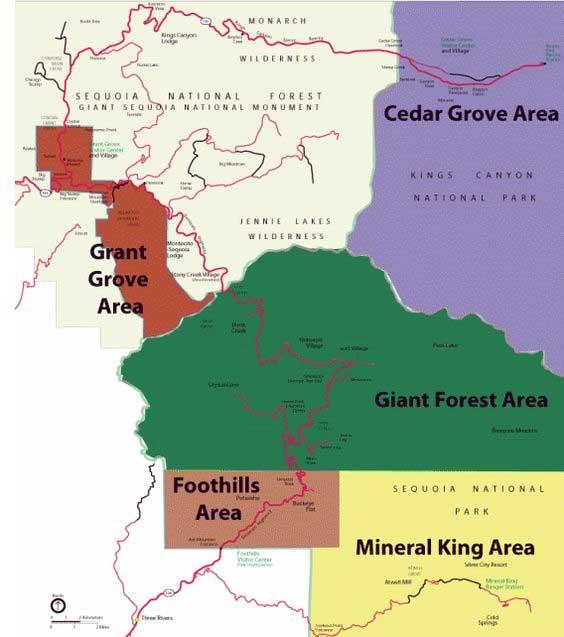 районы парков секвойя и кингс каньон