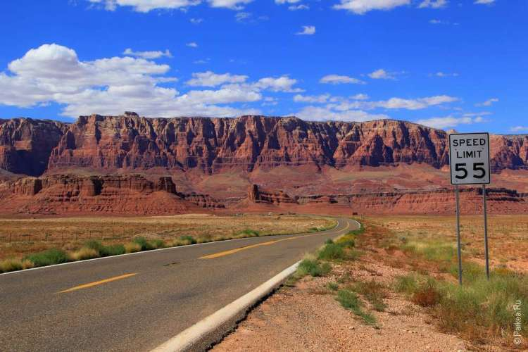 Дорога к Мраморному каньону