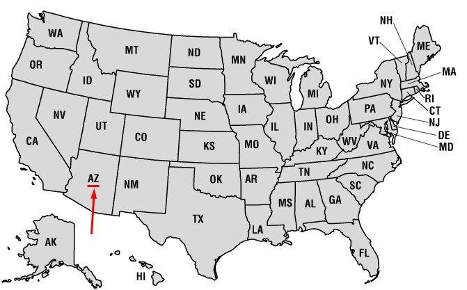 Штат США с Гранд-Каньоном