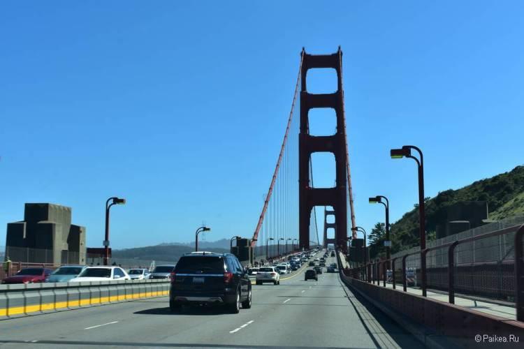 Мост Золотые Ворота на автомобиле