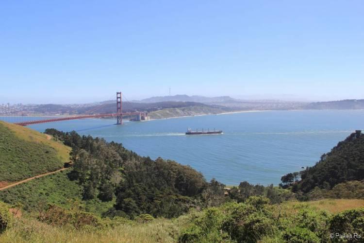 Мост Золотые Ворота в Сан-Франциско панорама