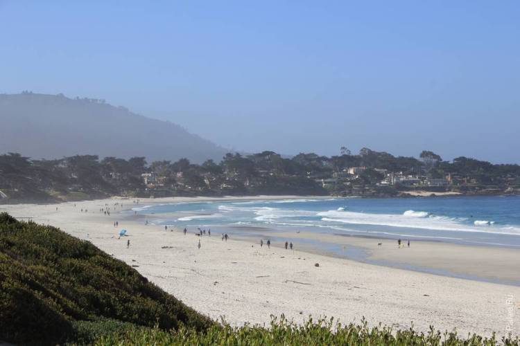 пляж кармел бич калифорния сша