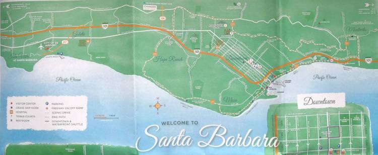 Санта-Барбара карта города