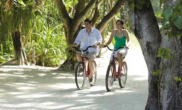 Мальдивы велосипед