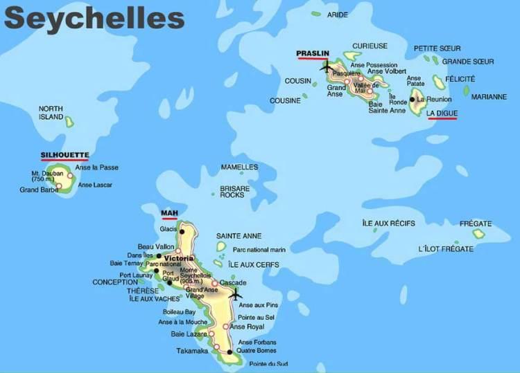 Сейшелы карта