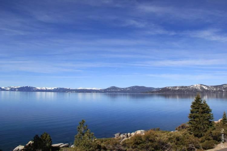 пресноводное озеро тахо 35