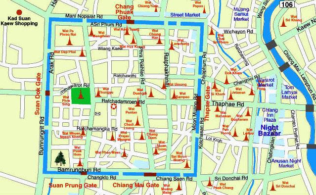 Чианг Май старый город