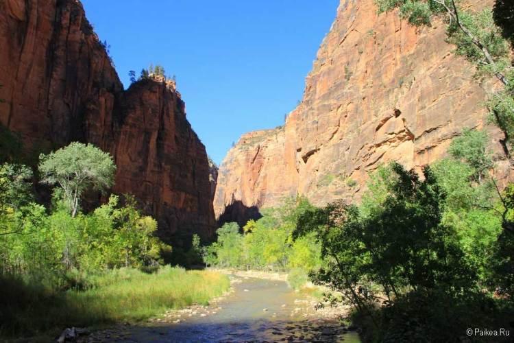 зайон узкий каньон