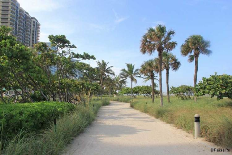 Пляжи Майами променад