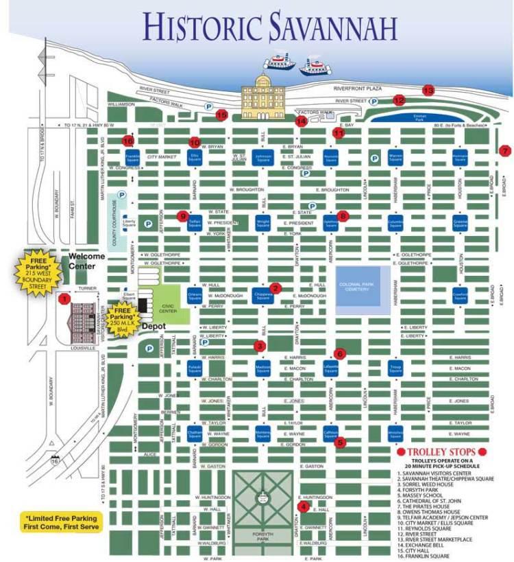 саванна тур карта