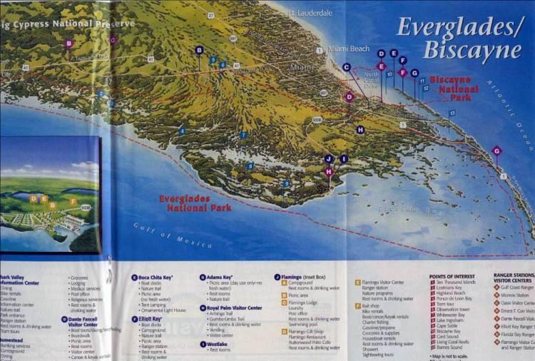 эверглейдс физическая карта