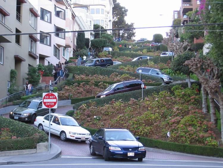 Ломбард-стрит Сан-Франциско