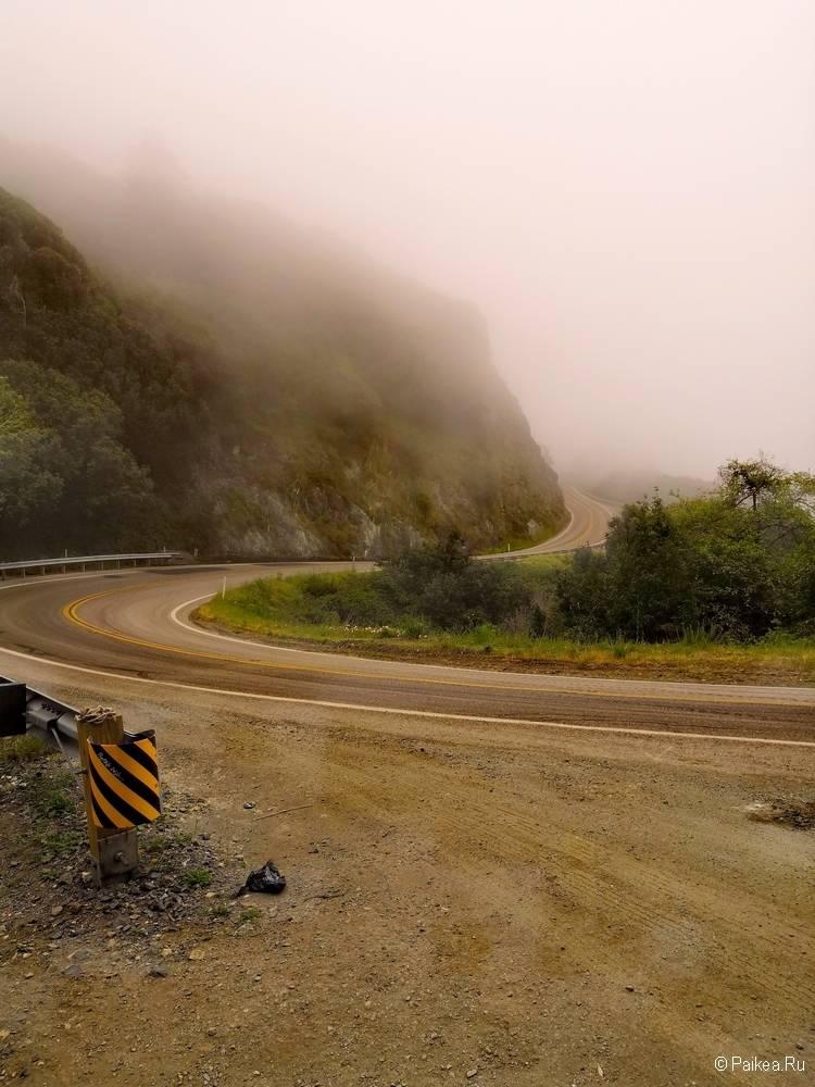 поездка в калифорнию шоссе 1