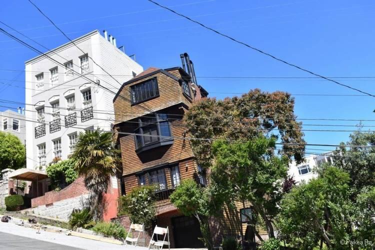 Достопримечательности Сан-Франциско дом на холме