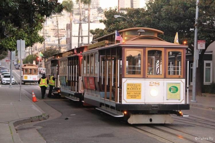 Кабельный трамвай символ Сан-Франциско