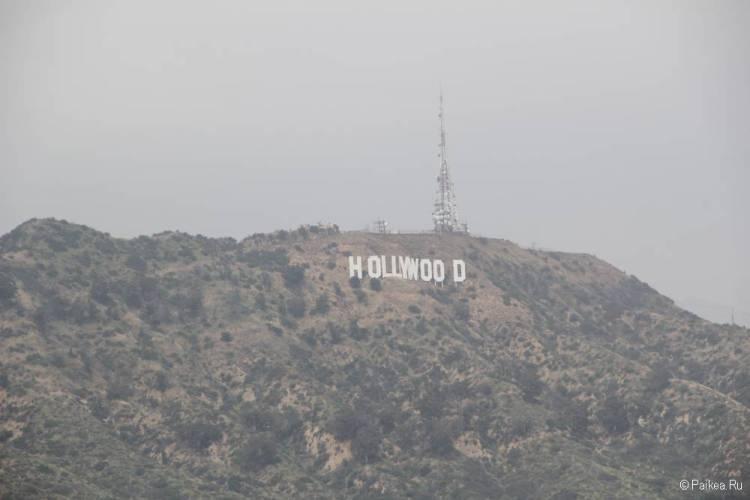 знак голливуд в лос-анджелесе