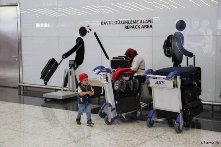 Новый аэропорт Стамбула весы для багажа