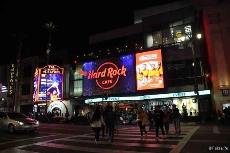 Поездка в Лос-Анджелес самостоятельно Хард рок кафе