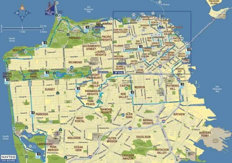 Маршрут на машине по Сан-Франциско / Scenic 49 Mile Drive