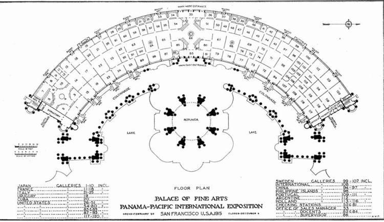 схема дворца изящных искусств в сан-франциско