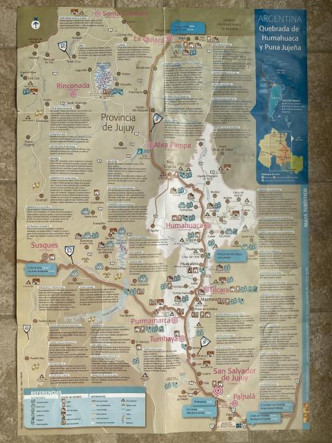 туристическая карта провинции хухуй аргентина / jujuy