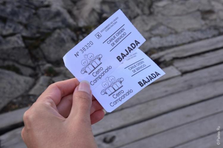 барилоче билет на фуникулер